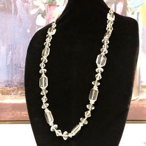 LOFT sparkling long lucite necklace NWT $59.59 🌟